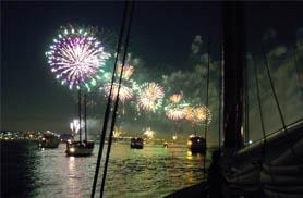 Fireworks Sail on Schooner Adirondack II
